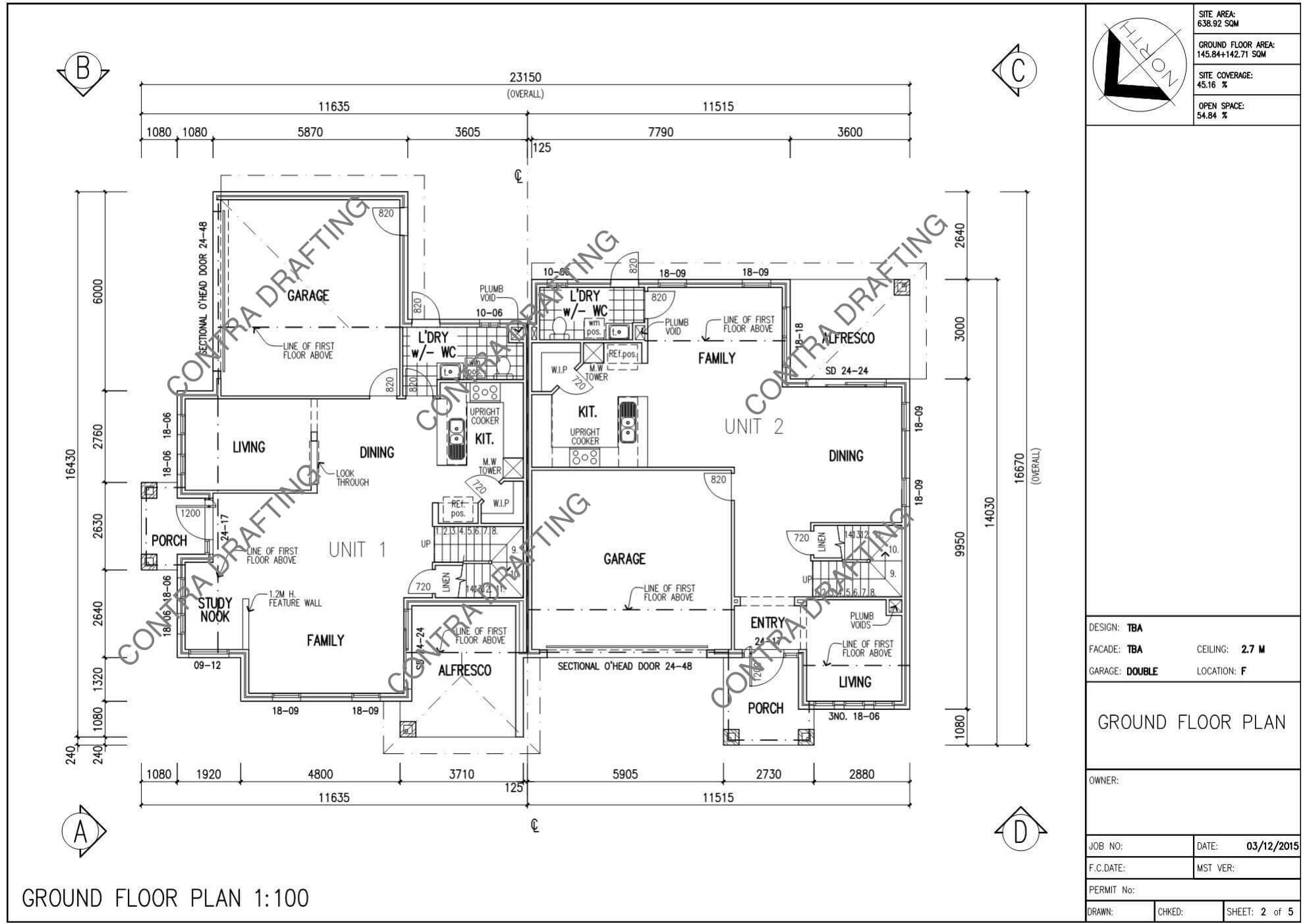 Architectural Plans. Architecture. Design and Drafting for Production